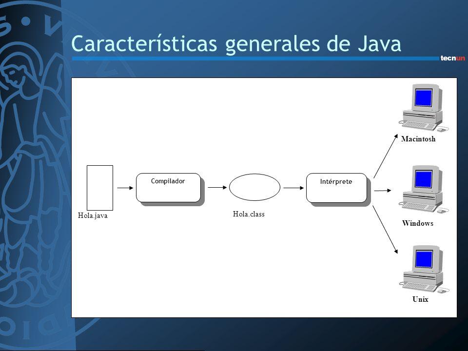 Características generales de Java