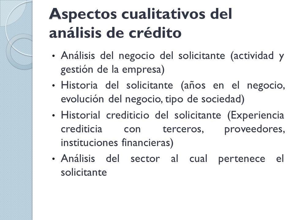 Aspectos cualitativos del análisis de crédito