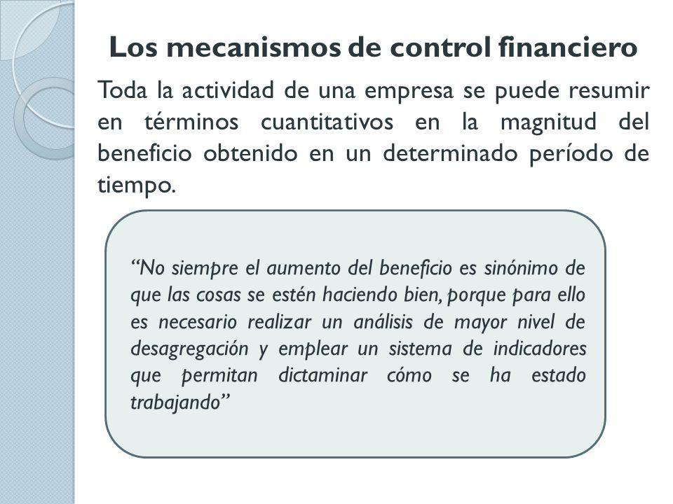 Los mecanismos de control financiero
