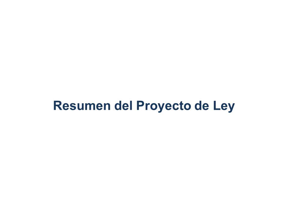 Resumen del Proyecto de Ley