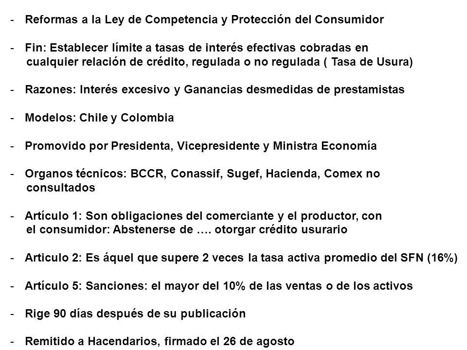 Reformas a la Ley de Competencia y Protección del Consumidor