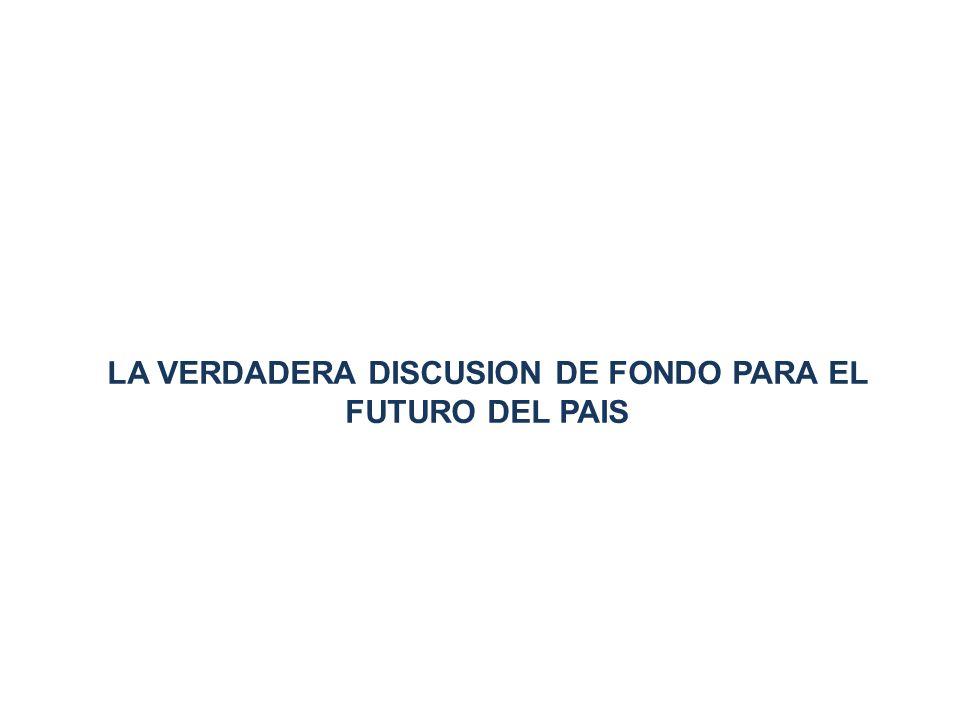 LA VERDADERA DISCUSION DE FONDO PARA EL FUTURO DEL PAIS