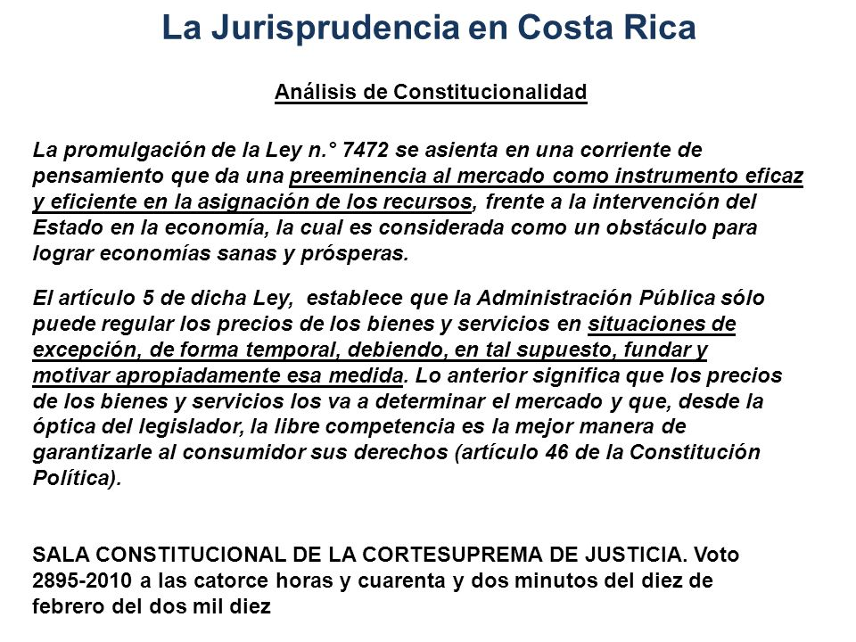 La Jurisprudencia en Costa Rica