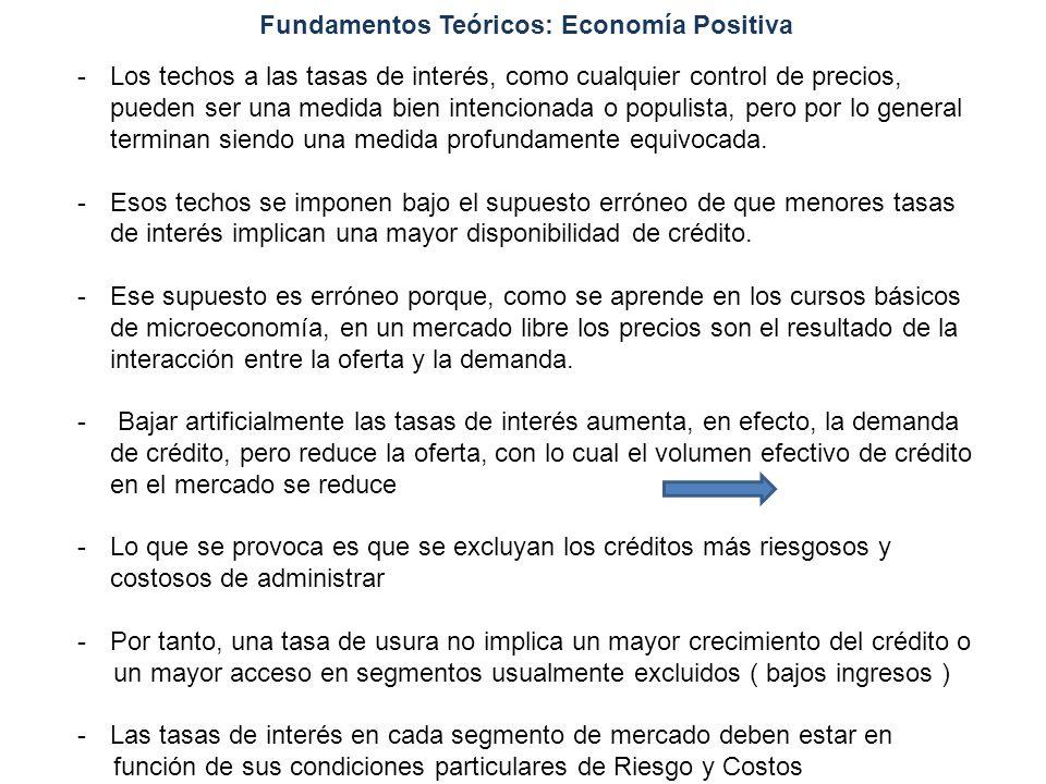 Fundamentos Teóricos: Economía Positiva