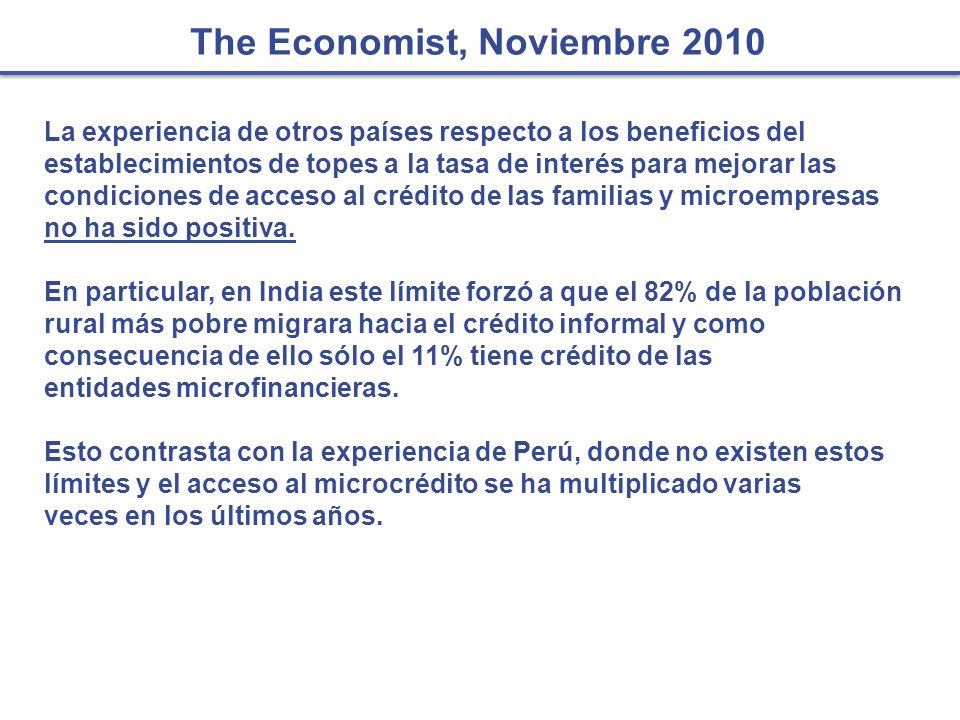 The Economist, Noviembre 2010
