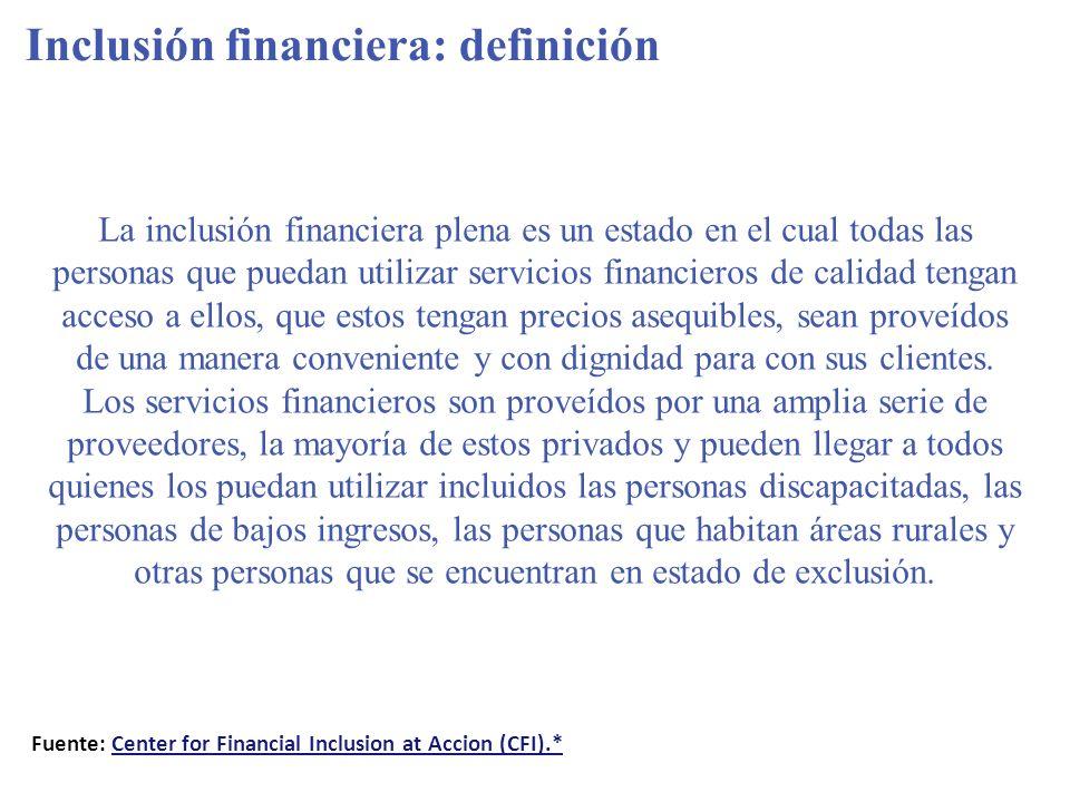 Inclusión financiera: definición