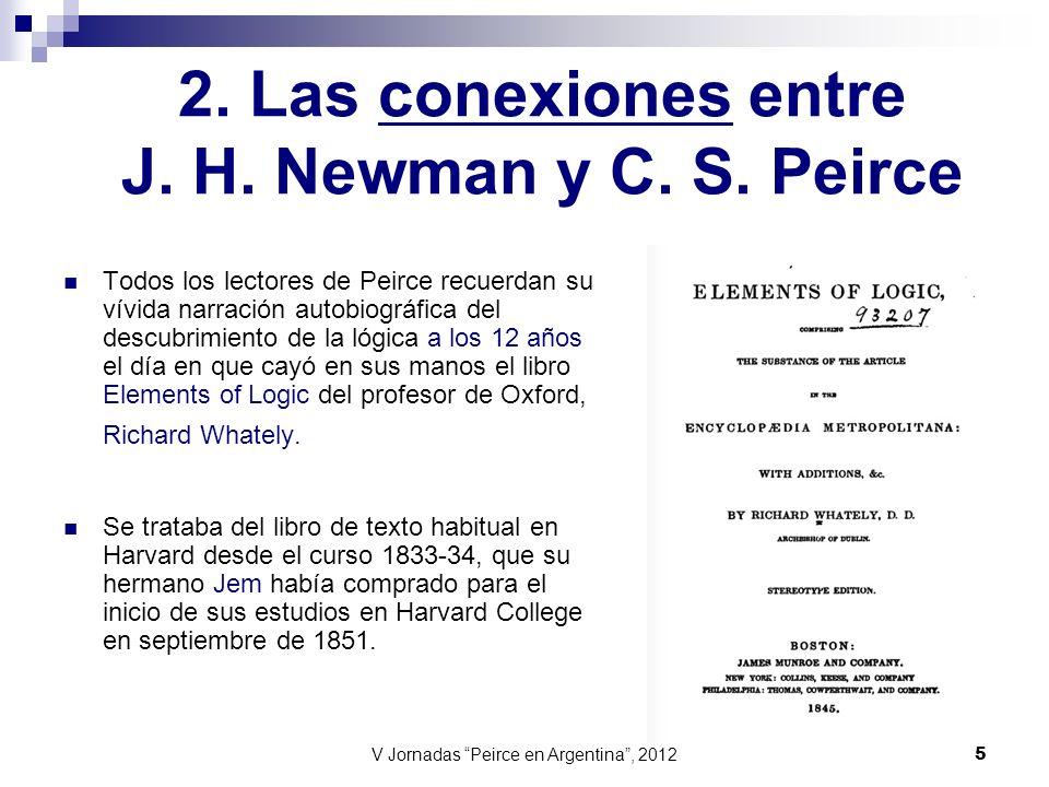 2. Las conexiones entre J. H. Newman y C. S. Peirce