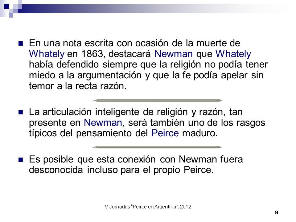 V Jornadas Peirce en Argentina , 2012