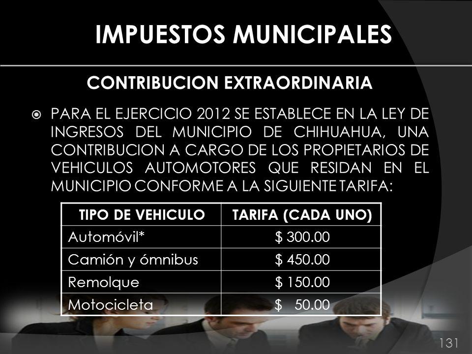 IMPUESTOS MUNICIPALES