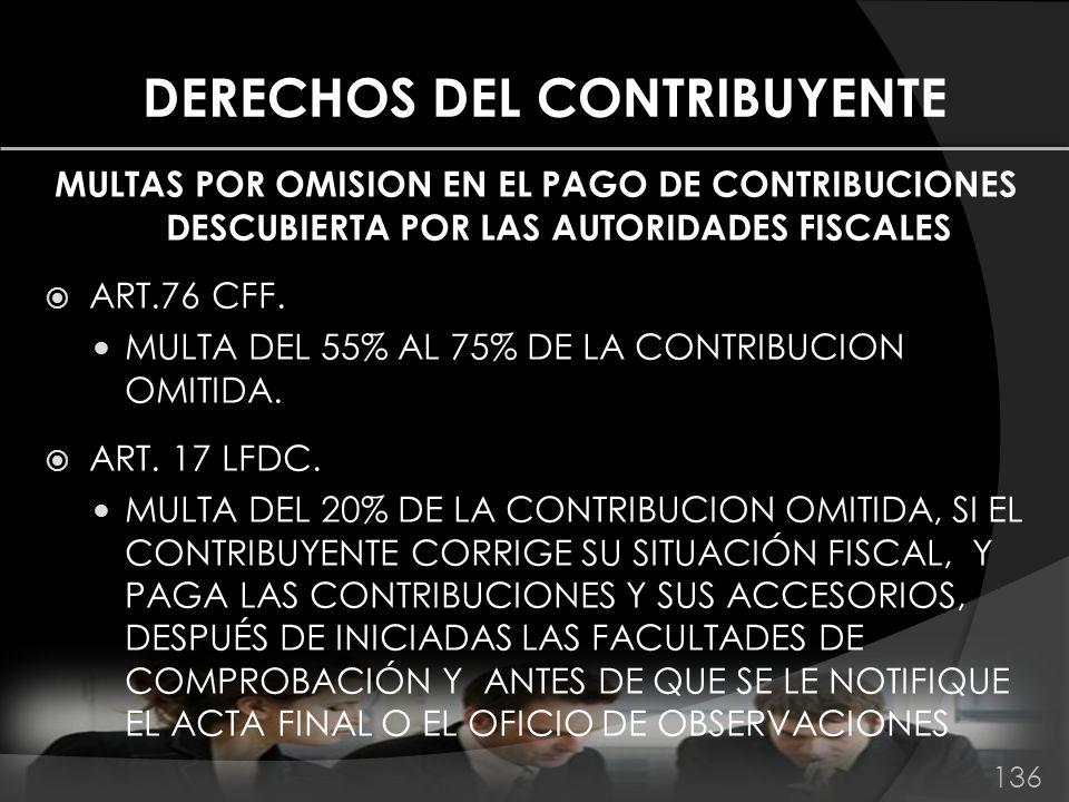 DERECHOS DEL CONTRIBUYENTE