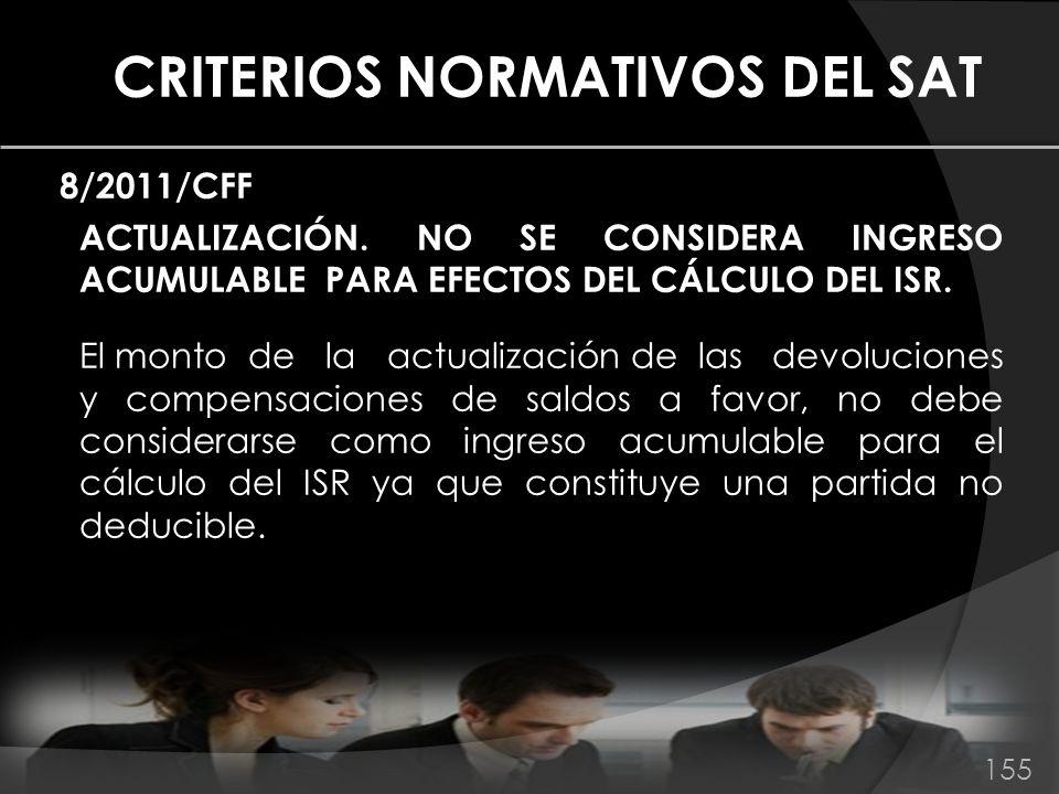 CRITERIOS NORMATIVOS DEL SAT