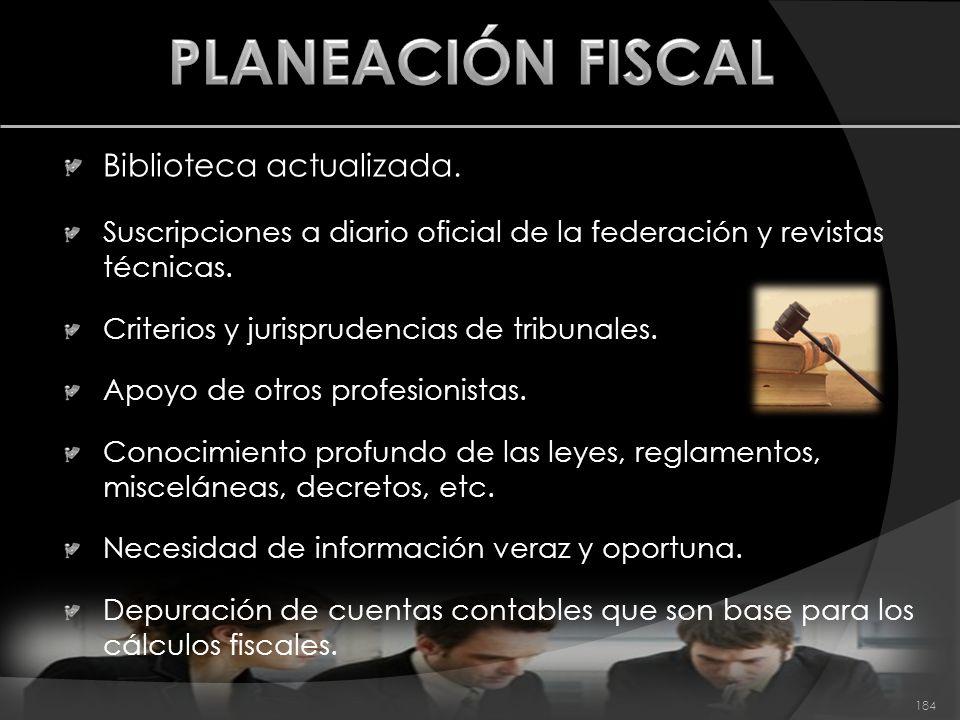 PLANEACIÓN FISCAL Biblioteca actualizada.
