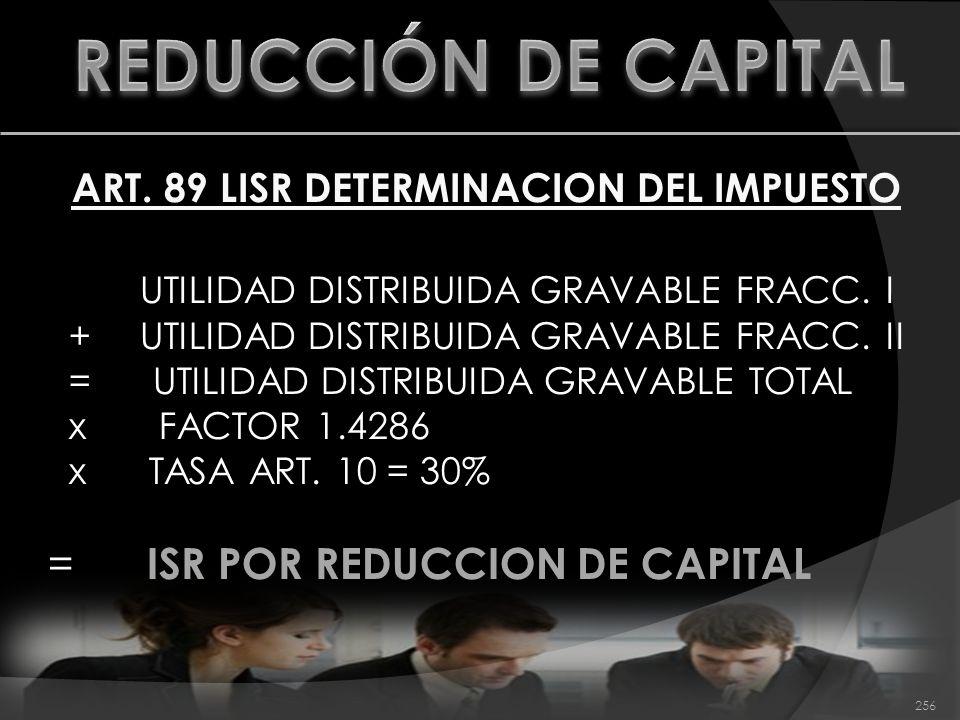 ART. 89 LISR DETERMINACION DEL IMPUESTO