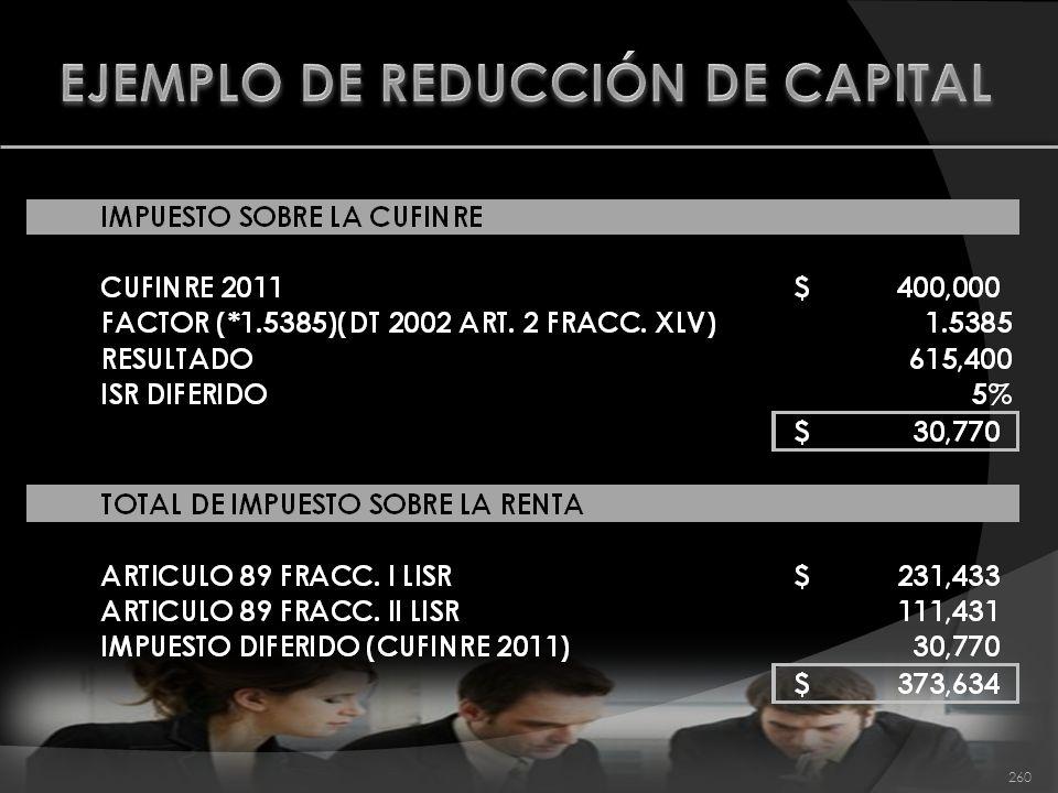 EJEMPLO DE REDUCCIÓN DE CAPITAL
