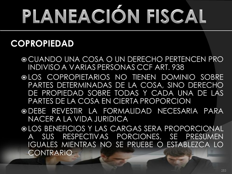 PLANEACIÓN FISCAL COPROPIEDAD