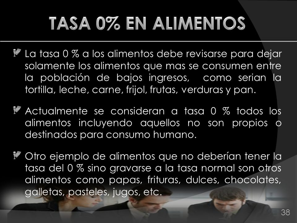 TASA 0% EN ALIMENTOS