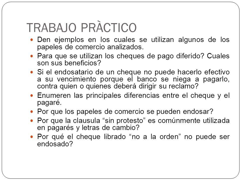 Papeles de comercio cheque letra de cambio y pagar for Trabajos en barcelona sin papeles