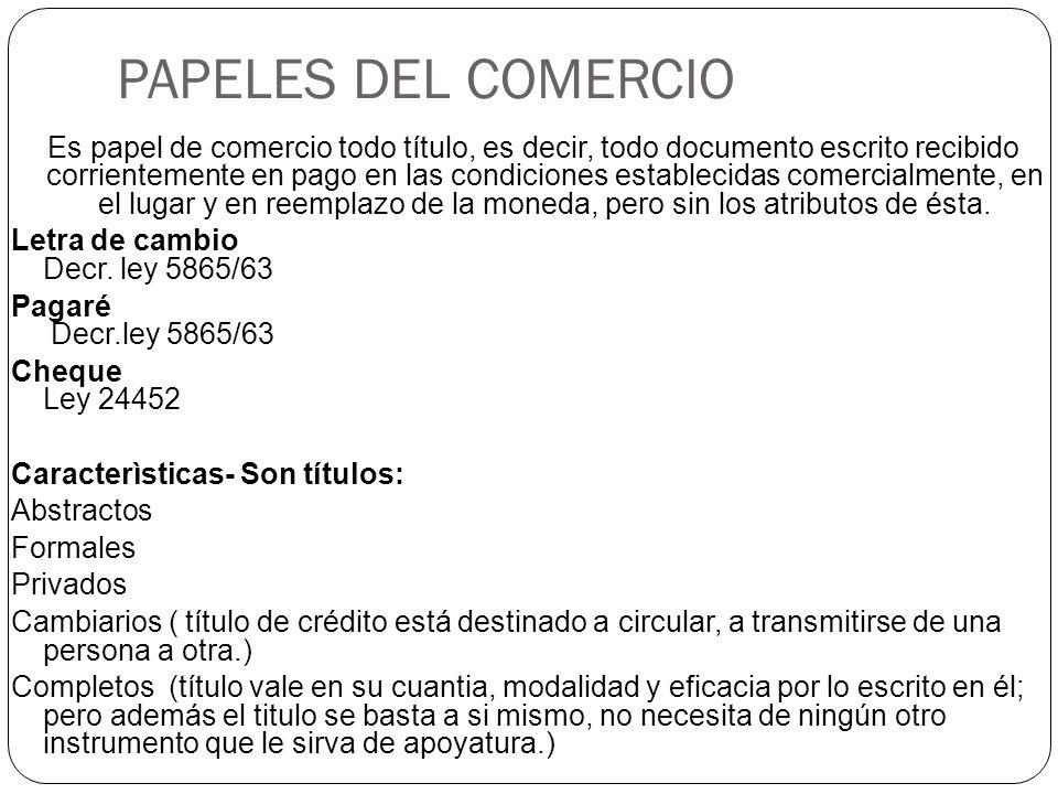 PAPELES DEL COMERCIO