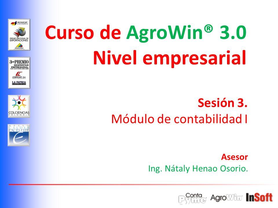 Curso de AgroWin® 3.0 Nivel empresarial