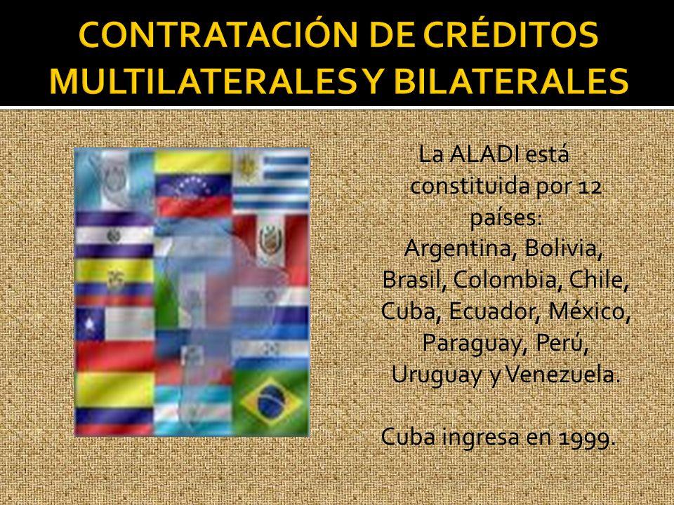CONTRATACIÓN DE CRÉDITOS MULTILATERALES Y BILATERALES