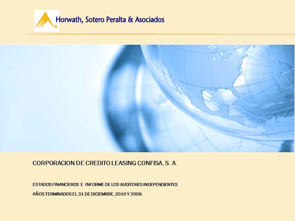 CORPORACION DE CREDITO LEASING CONFISA, S. A.