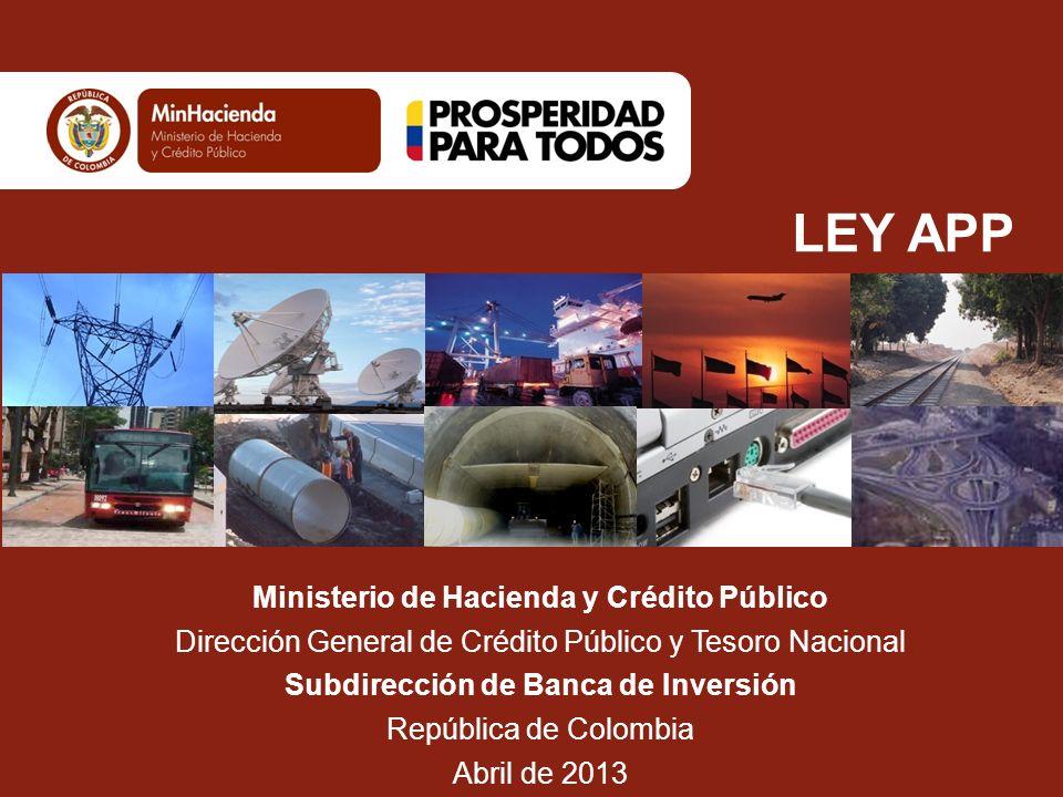 LEY APP Ministerio de Hacienda y Crédito Público