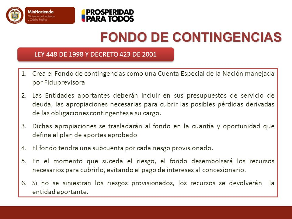FONDO DE CONTINGENCIAS