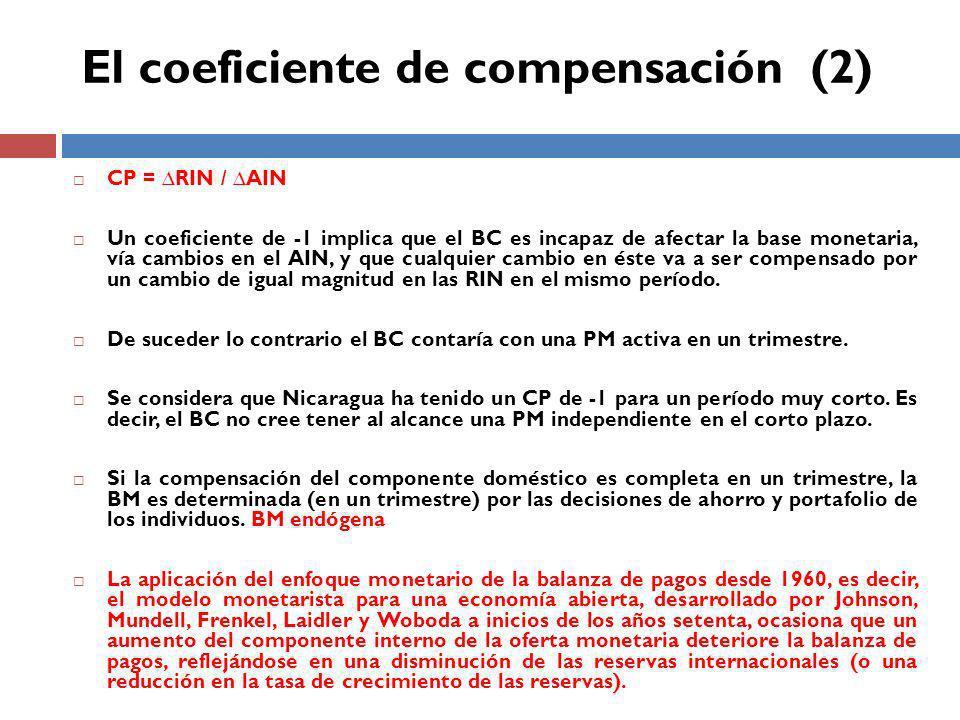 El coeficiente de compensación (2)
