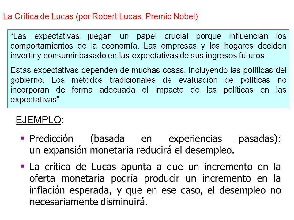 La Crítica de Lucas (por Robert Lucas, Premio Nobel)