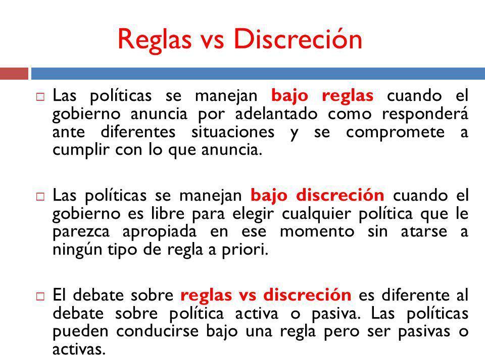 Reglas vs Discreción