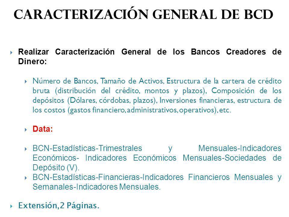 Caracterización general de bcd