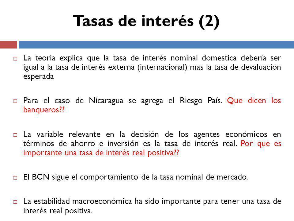 Tasas de interés (2)