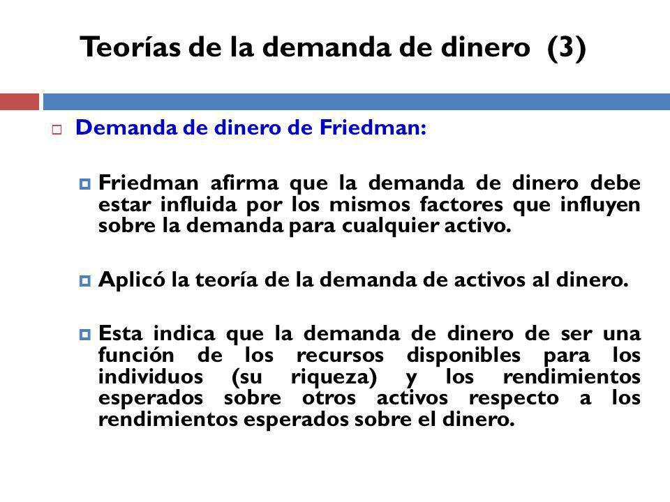 Teorías de la demanda de dinero (3)