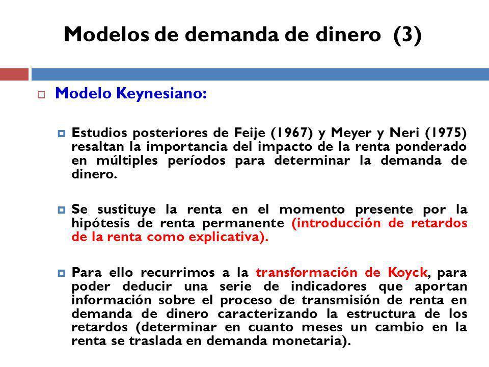 Modelos de demanda de dinero (3)