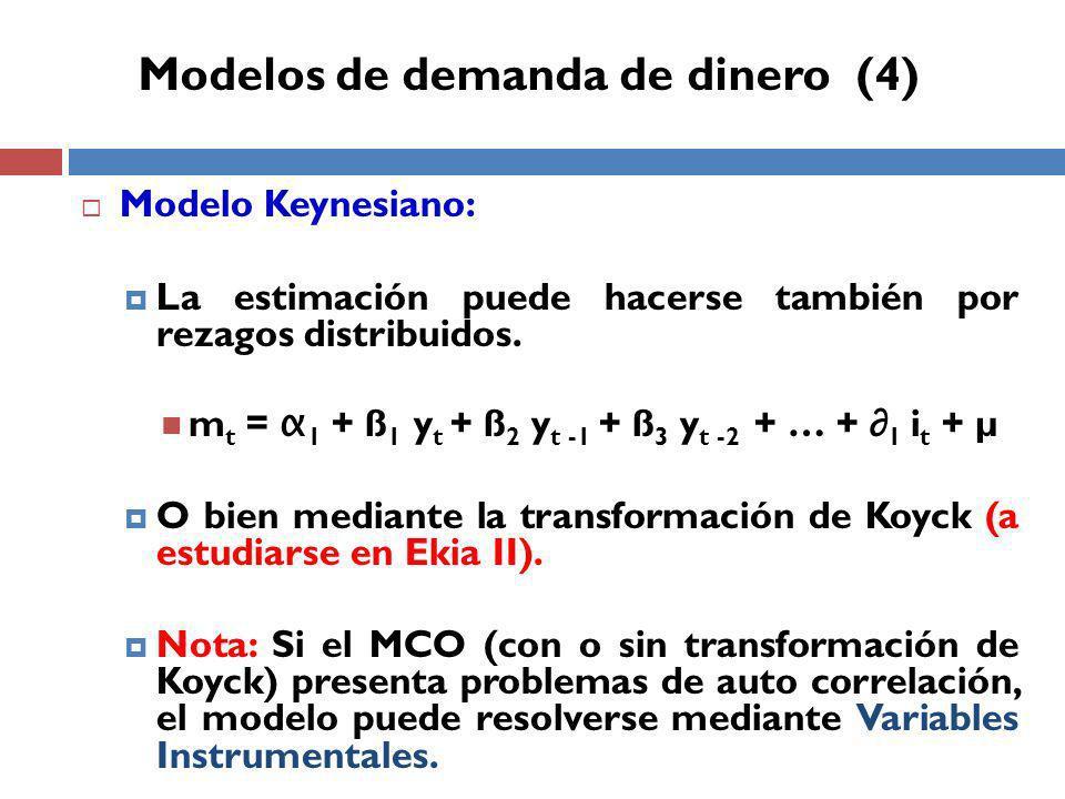 Modelos de demanda de dinero (4)