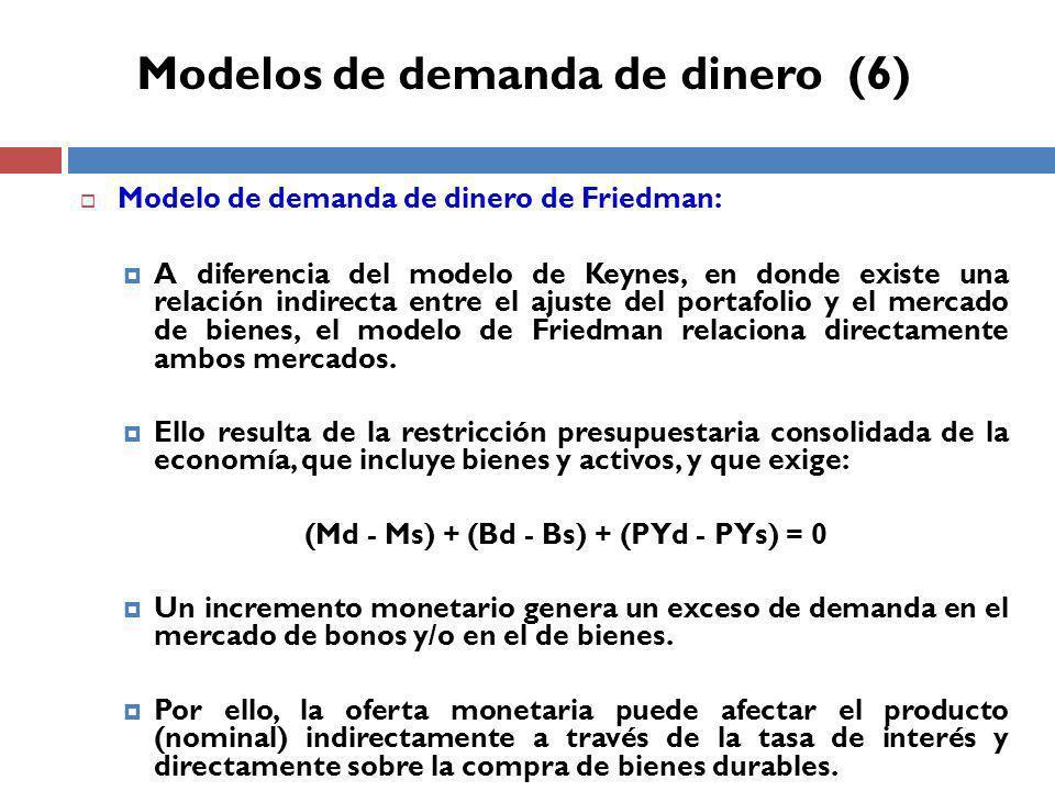 Modelos de demanda de dinero (6)