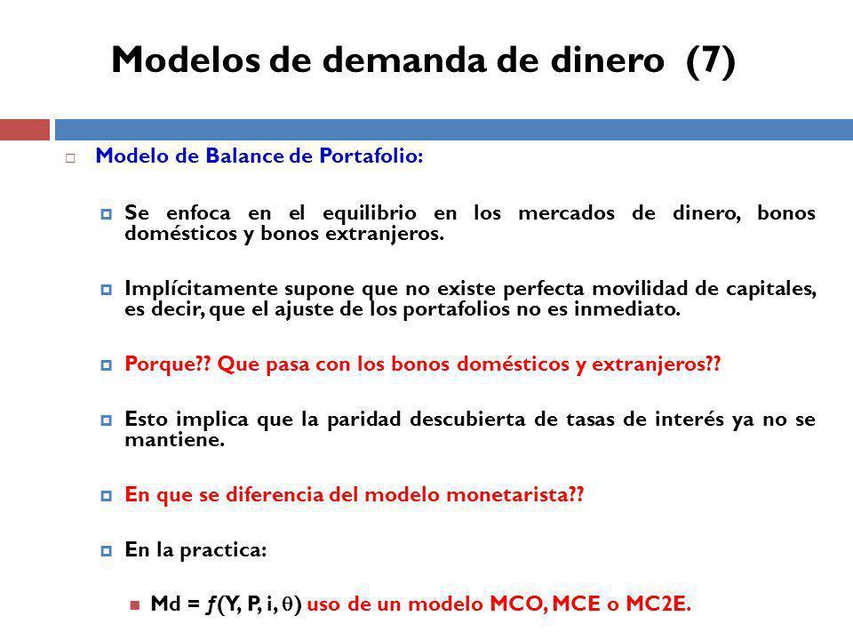 Modelos de demanda de dinero (7)