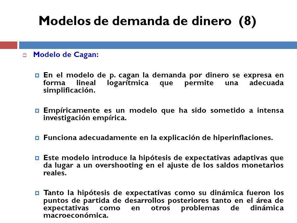 Modelos de demanda de dinero (8)