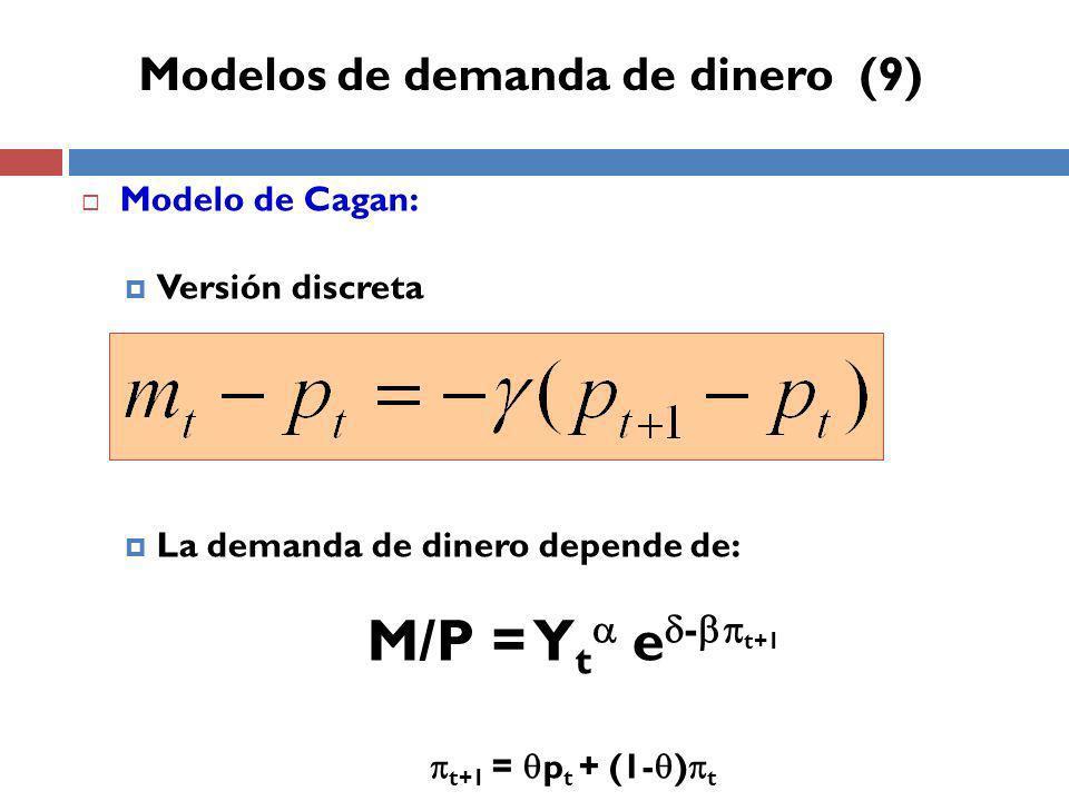 Modelos de demanda de dinero (9)