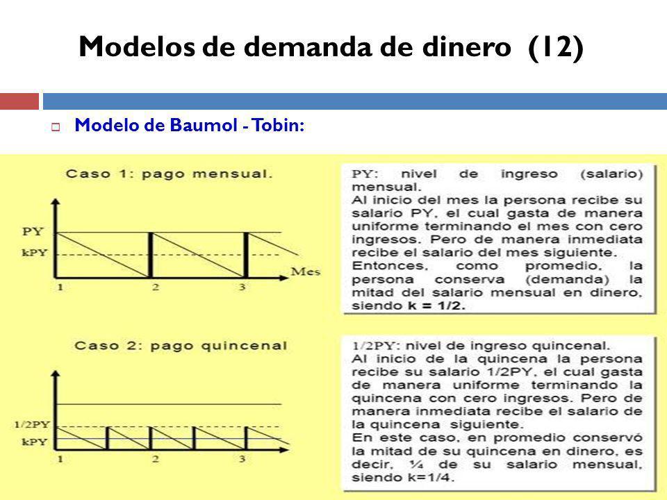 Modelos de demanda de dinero (12)
