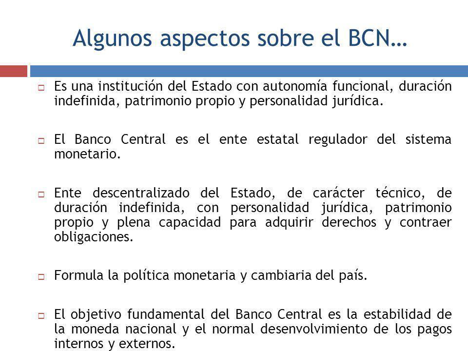 Algunos aspectos sobre el BCN…