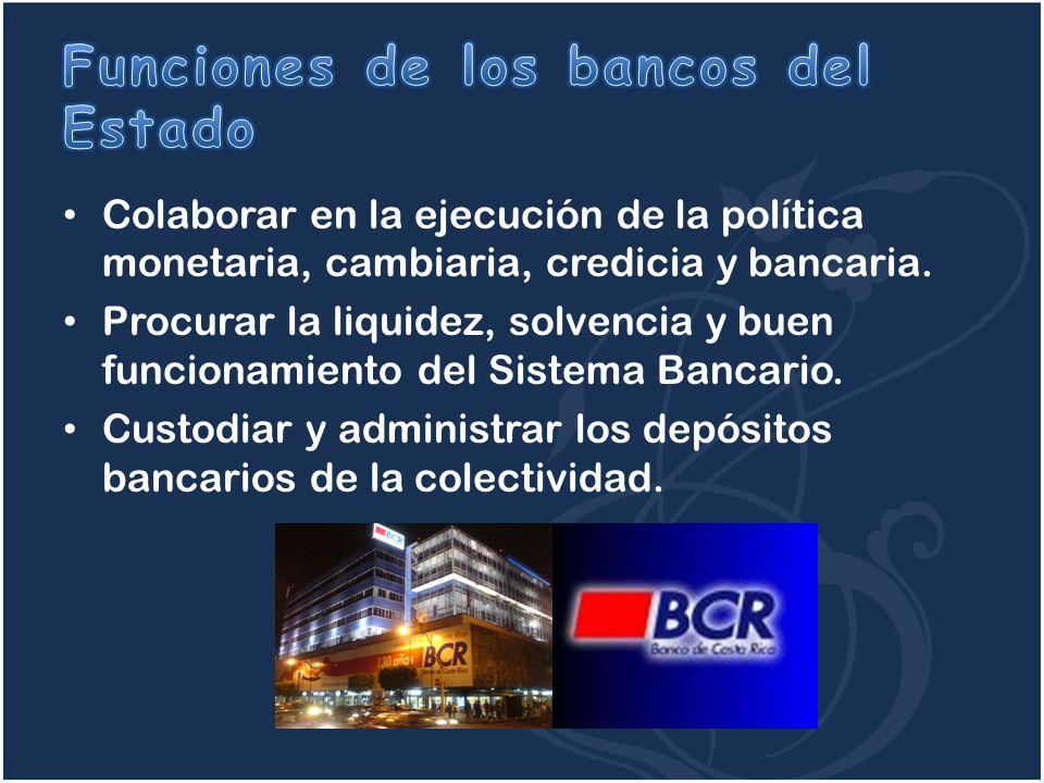 Funciones de los bancos del Estado