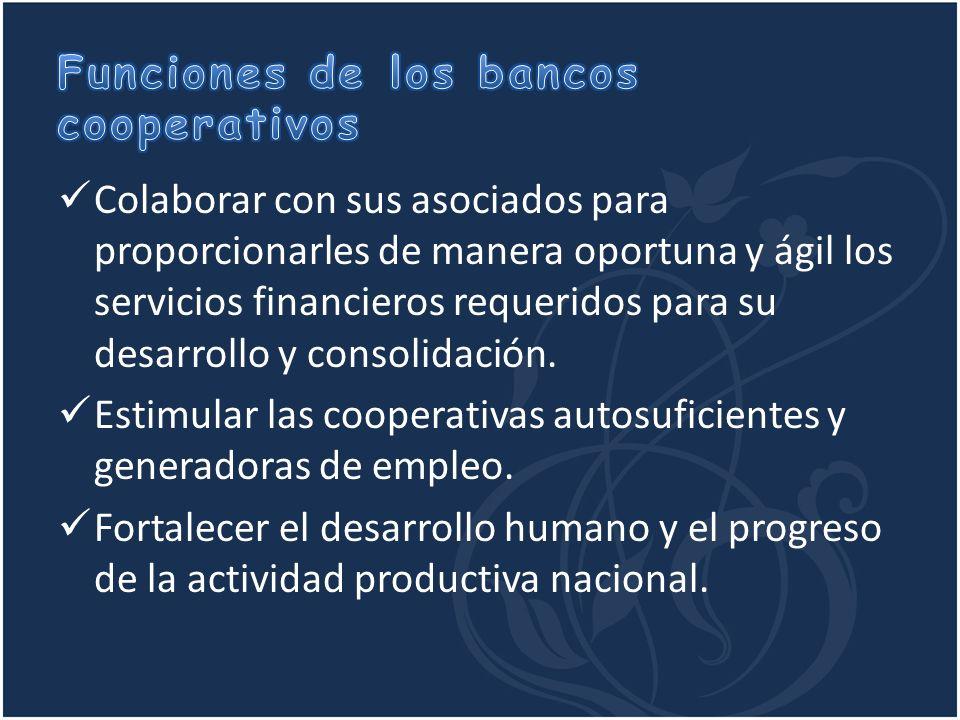 Funciones de los bancos cooperativos