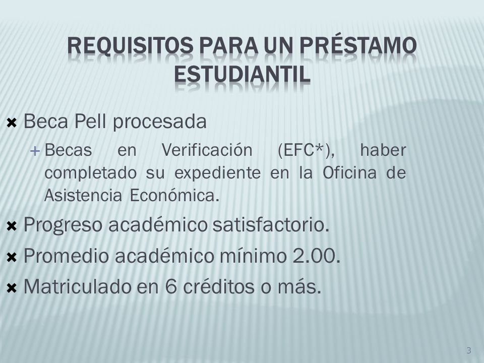 Requisitos para un préstamo estudiantil