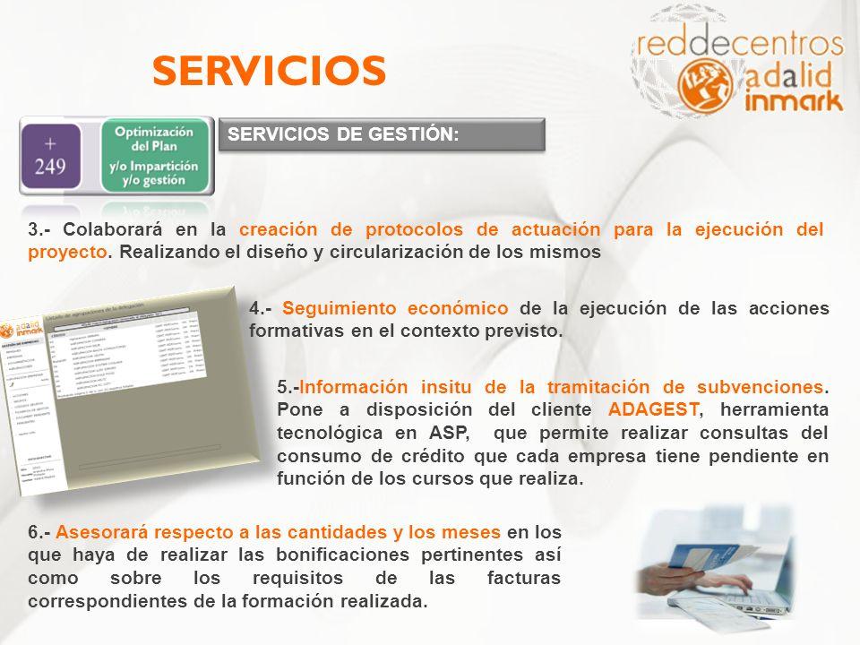 SERVICIOS SERVICIOS DE GESTIÓN: