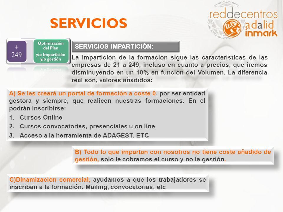 SERVICIOS SERVICIOS IMPARTICIÓN: