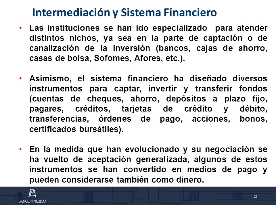 Intermediación y Sistema Financiero