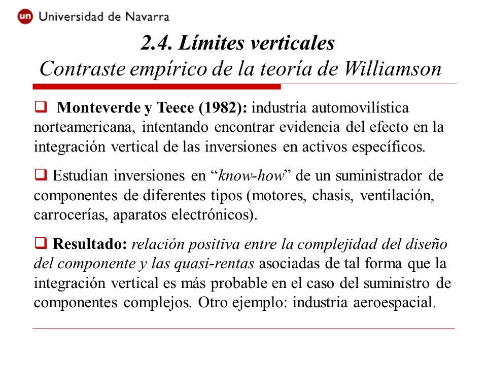 2.4. Límites verticales Contraste empírico de la teoría de Williamson