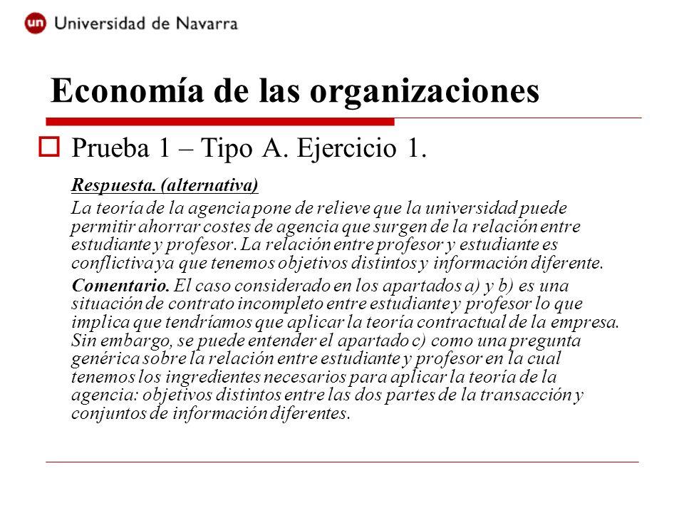 Economía de las organizaciones