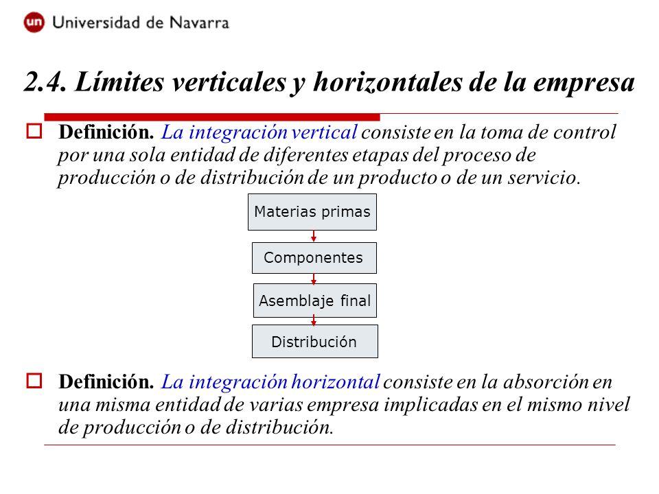 2.4. Límites verticales y horizontales de la empresa
